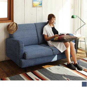 西海岸テイストヴィンテージ家具シリーズRicordoリコルド デニムソファ2P|人気の通販店Sotao