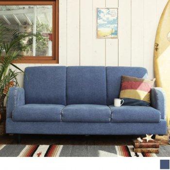西海岸テイストヴィンテージ家具シリーズRicordoリコルド デニムソファ3P|人気の3人掛けソファ通販店Sotao