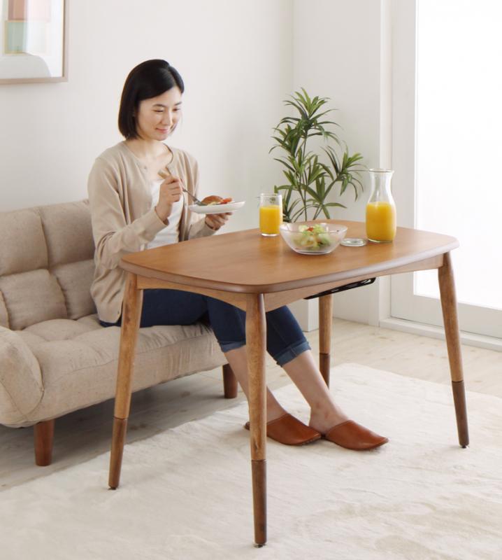 高さが変えられる! 天然木アルダー材高継脚こたつテーブルConsortコンソート/こたつテーブル(90×55)の画像