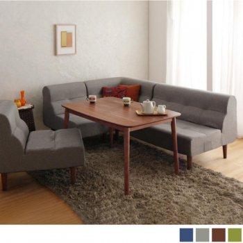 北欧ダイニングテーブルセット こたつもソファも高さ調節できる!Nordenノルデン 5点_1Pソファセット|人気の通販店Sotao