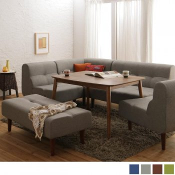 北欧ダイニングテーブルセット こたつもソファも高さ調節できる!Nordenノルデン 6点セット|人気の通販店Sotao