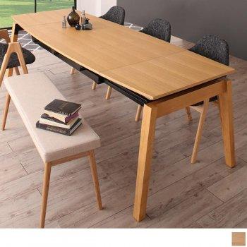 北欧ダイニングスライド伸縮テーブルMALIAマリア ダイニングテーブル W140-240|人気の通販店Sotao