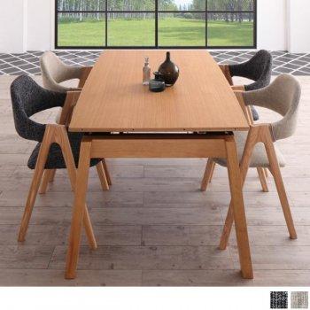 北欧ダイニングスライド伸縮テーブルMALIAマリア 5点セット(ダイニングテーブル+チェア4脚) |人気の通販店Sotao