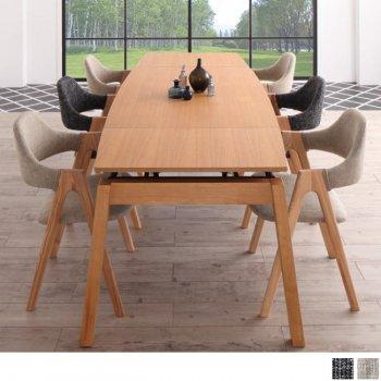 北欧ダイニングスライド伸縮テーブルMALIAマリア 7点セット(ダイニングテーブル+チェア6脚) |人気の通販店Sotao