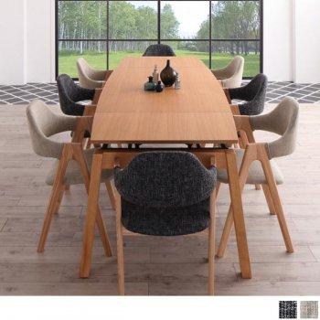北欧ダイニングスライド伸縮テーブルMALIAマリア 9点セット(ダイニングテーブル+チェア8脚) |人気の通販店Sotao