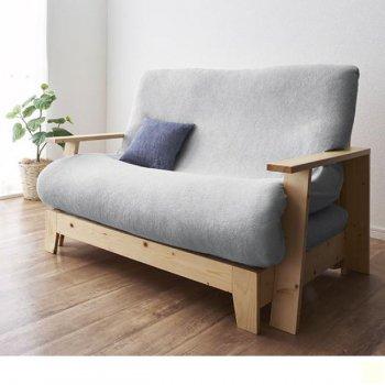 敷布団で楽しむ伸縮型天然木すのこソファベッドDuetoドゥエート|人気の通販店Sotao