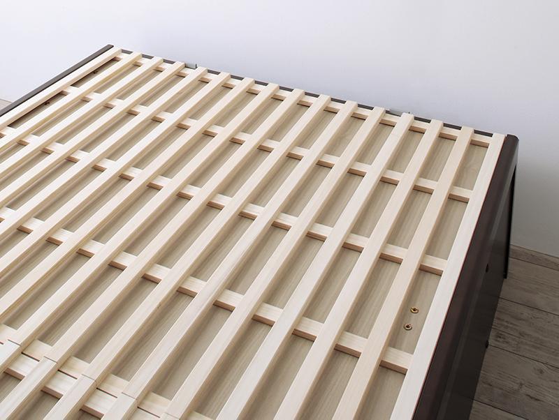 敷ふとんOK&大容量収納すのこ跳ね上げベッドシングルベッドBegleiterベグレイター の画像