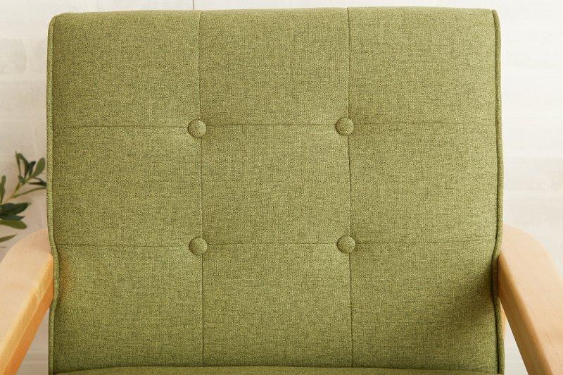 北欧テイスト 木肘ファブリックソファNEW RETROファブリック 1人掛けソファの画像