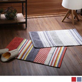 おしゃれな手織り玄関ラグマットRemainリメイン 長方形(75×45cm)|人気の通販店Sotao