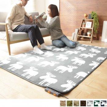 洗えるラグ+ホットカーペット本体セット [2畳サイズ]Mollisモリス_2畳(186x186cm)|人気の通販店Sotao