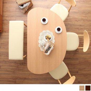 天然木半円テーブルダイニング Luneリュヌ ダイニングテーブル(単品)|人気のダイニングテーブル(単品)通販店Sotao