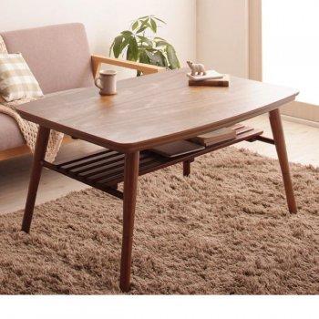 高さ調整 棚付きデザインこたつテーブルKielceキェルツェ 長方形(75×105cm)|人気の通販店Sotao