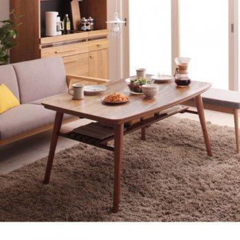 高さ調整 棚付きデザインこたつテーブルKielceキェルツェ 4尺長方形(80×120cm)|人気の通販店Sotao
