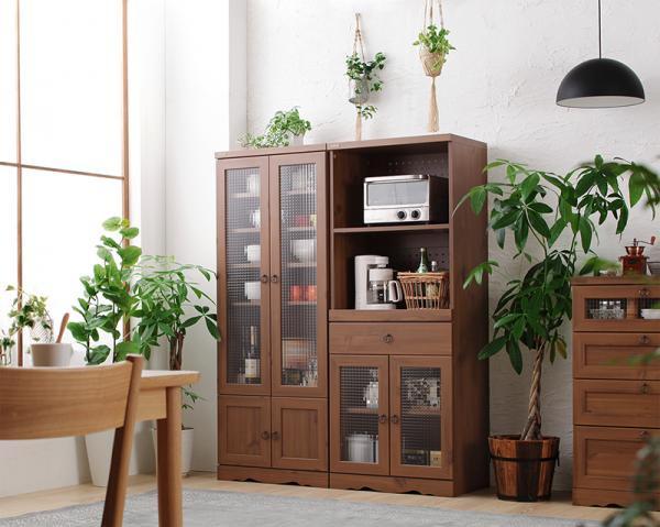 モダンボタニカルキッチン収納シリーズ  Botanical ボタニカル レンジ台 58×150cmの画像
