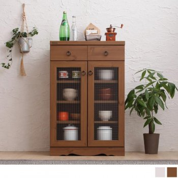 モダンボタニカルキッチン収納シリーズ  Botanical ボタニカル 食器棚 59×90cm|人気の通販店Sotao