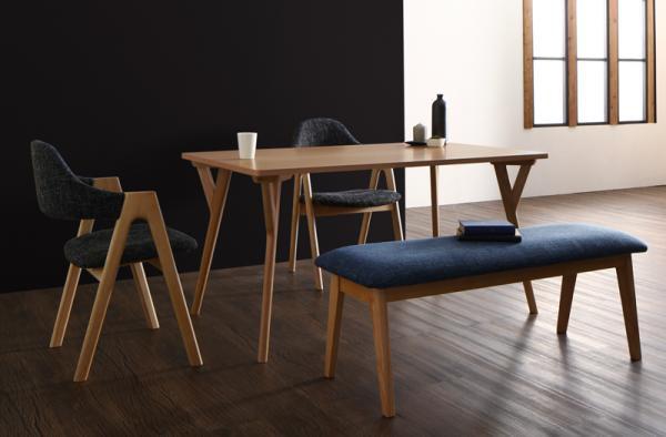 北欧モダンデザインダイニング(テーブル+チェア2脚+ベンチ1脚)ILALIイラーリ/4点セット(テーブル+チェア2脚+ベンチ1脚)の画像