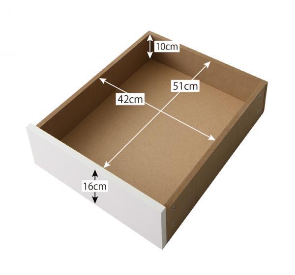 選べる引出収納付きシンプルデザインローベッドMenoceメノーチェ セミダブルの画像