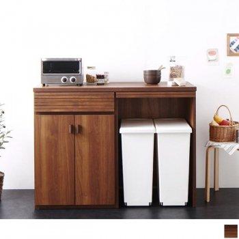 日本製完成品ごみ箱収納スペース付きキッチンカウンター Contrea コントレア|人気のキッチン収納家具通販店Sotao