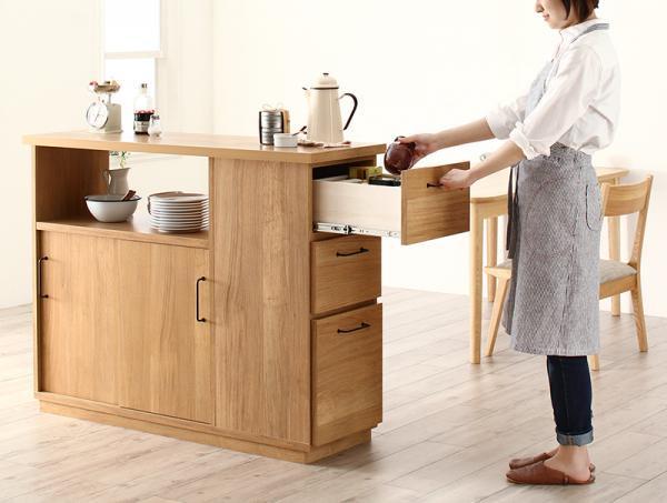 間仕切りキッチンカウンター 両面から収納できるCafeterie カフェテリエの画像