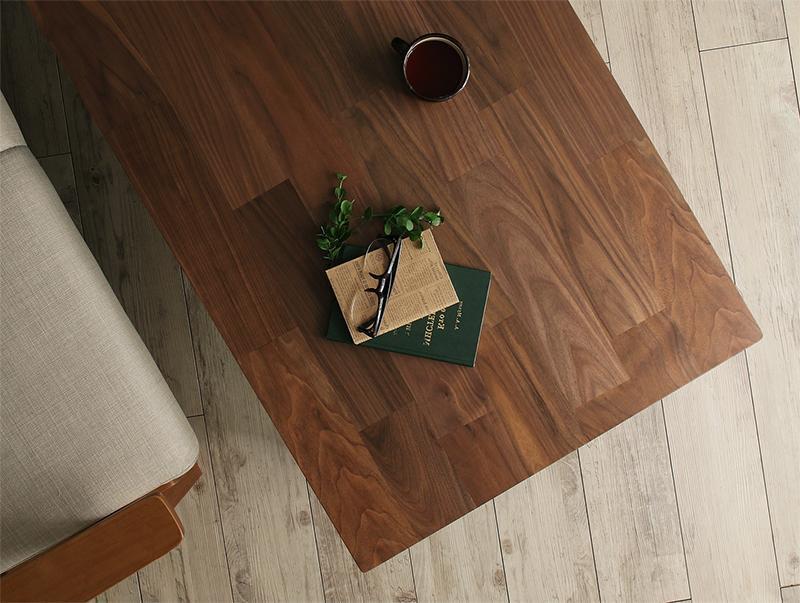 天然木ウォールナット こたつテーブルChiesa キエーザの画像