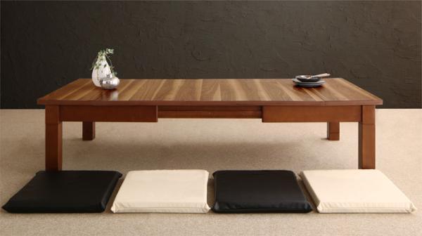 伸長式こたつテーブル 木目が映える最大幅180cm!Abroader アブローダーの画像