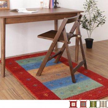通販Sotaoの新商品ウール100%インド製手織りギャッベラグ・マット GABELIA ギャベリア 80×140cm