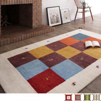 通販Sotaoの新商品ウール100%インド製手織りギャッベラグ・マット GABELIA ギャベリア 140×200cm