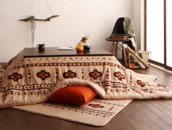キリム柄 エスニック調 はっ水 こたつ布団BADILIKA バディリカ 掛布団&敷布団2点セット の画像