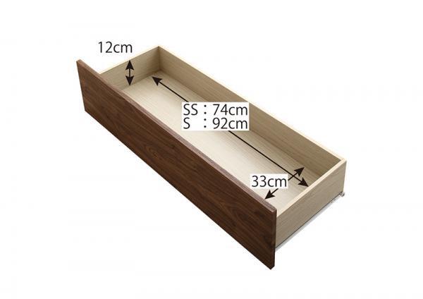 ワンルームにぴったりなコンパクト収納ベッド足元引出し収納ベッド シングルの画像