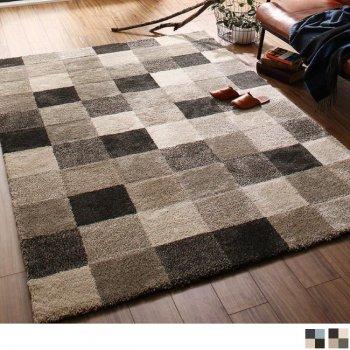 ウィルトン織デザインラグ ホットカーペット対応ブロックデザインラグ bonur carre |人気の通販店Sotao