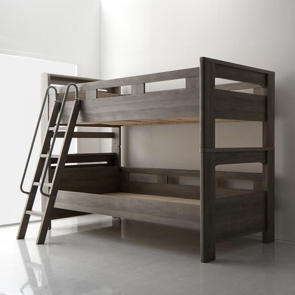 おしゃれなグレージュ デザイン 2段ベッドGRISERO グリセロの画像