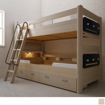 多機能2段ベッド 引き出し・ハンガーパネル・ライト付き!Tovey  トーヴィ|人気のロフトベッド・2段ベッド通販店Sotao