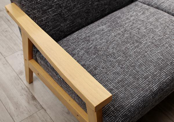北欧モダンデザイン木肘ソファEcrail エクレール   1Pの画像