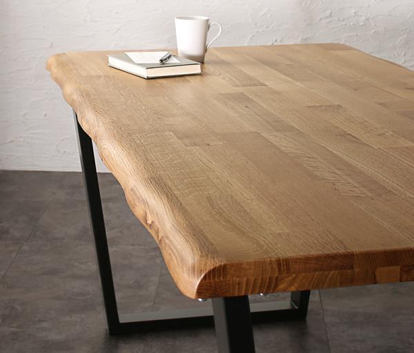 天然木オーク無垢材モダンデザインダイニングSeattle シアトル 4点セット(テーブル+チェア2脚+ベンチ1脚) の画像