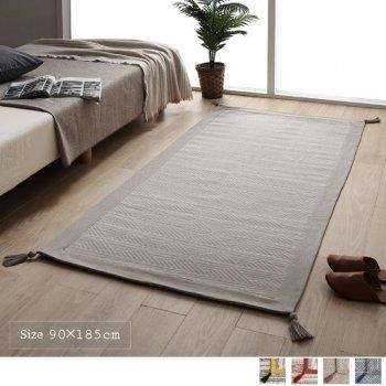 洗える 幾何柄 インド綿ボンディングラグAlphb アルフブ 90×185cm|人気の通販店Sotao