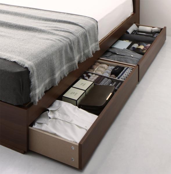 清潔に眠れる棚・コンセント付きすのこ収納ベッドAnela アネラ SDセミダブルの画像