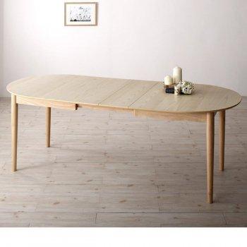 通販Sotaoの新商品天然木アッシュ材 伸縮式オーバルダイニングtititto ティティット 伸縮ダイニングテーブル