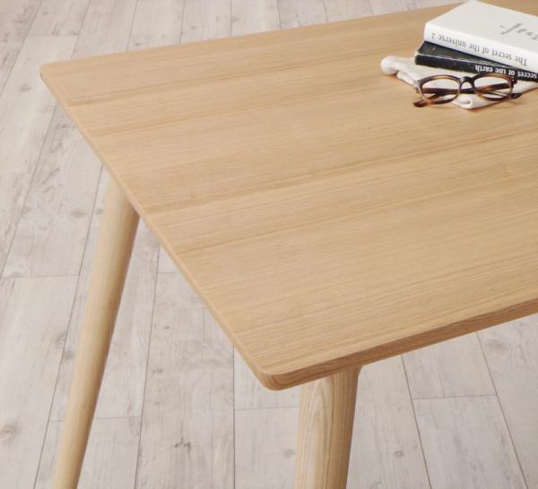 まるみが優しい北欧デザインダイニングRudnaD ルドナ ソフトレザータイプ 5点セット(テーブル+チェア4脚)の画像