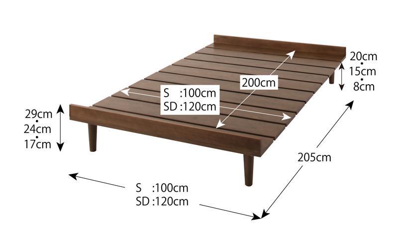 北欧デザインベッド フレーム幅100cmシングルベッドフレーム Kalevaカレヴァの画像