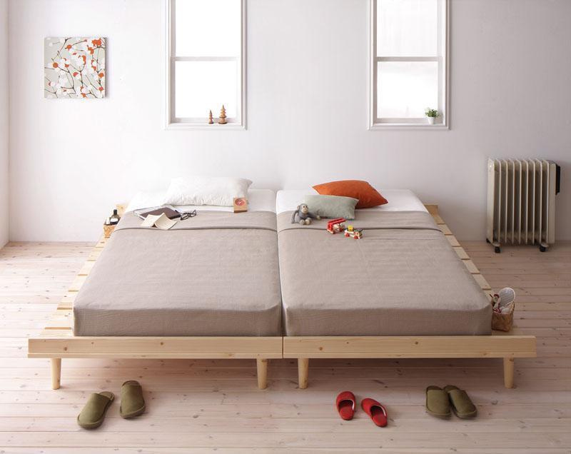 北欧デザインベッド フレーム幅100cmシングルベッドNooraノーラの画像
