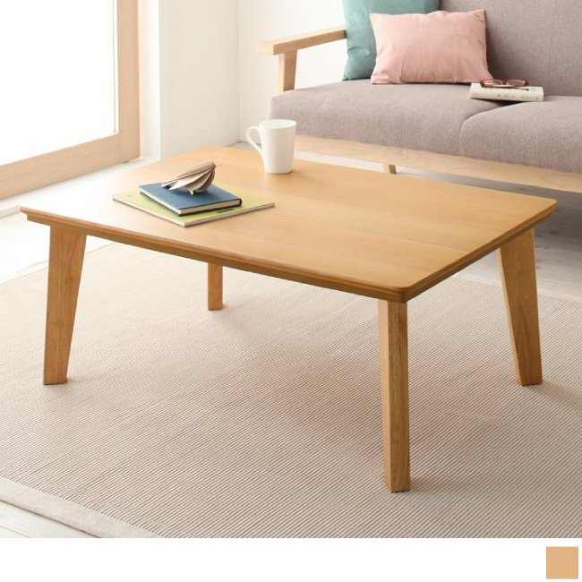 天然木カスタムデザインこたつテーブルTolucaトルカの画像