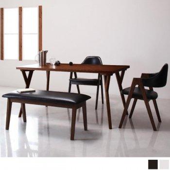 北欧モダンデザインダイニングVILLONヴィヨン4点セット(ダイニングテーブル+チェア2脚+ベンチ1脚) |人気の通販店Sotao
