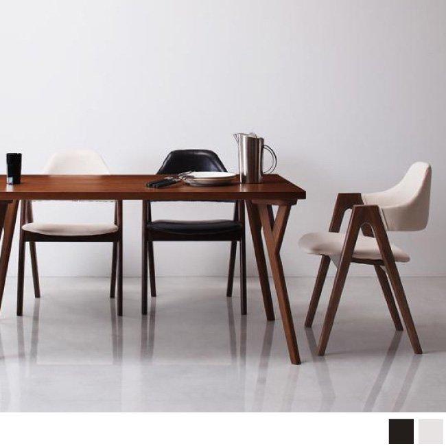 e68ec720da 北欧モダンデザインダイニングVILLONヴィヨン/ 5点セット(ダイニングテーブル+チェア4