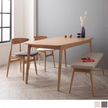 北欧ダイニングテーブルセットCornellコーネル4点セット(ダイニングテーブル+チェア2脚+ベンチ1脚) |人気の通販店Sotao