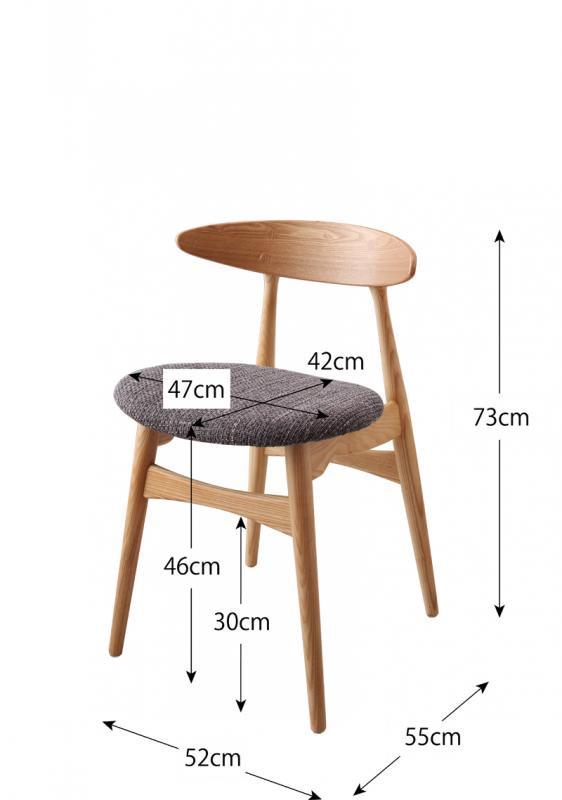 北欧ダイニングテーブルセットCornellコーネル/5点セット(ダイニングテーブル+チェア4脚)の画像