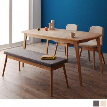 北欧ダイニングテーブルセットOnnellオンネル4点セットA(ダイニングテーブル+チェア2脚+ベンチ1脚) |人気の通販店Sotao