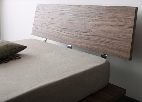 モダンデザインローベッドE-goイーゴ_フレーム幅120×セミダブルマットレスの画像