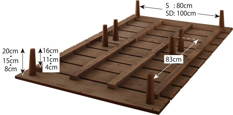 北欧デザインベッド フレーム幅120cmセミダブルベッドフレーム Kalevaカレヴァの画像