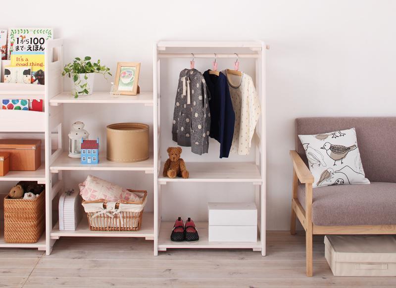 北欧天然木シンプルデザインキッズ家具シリーズ 全3色Primariaプリマリア ハンガーラック の画像