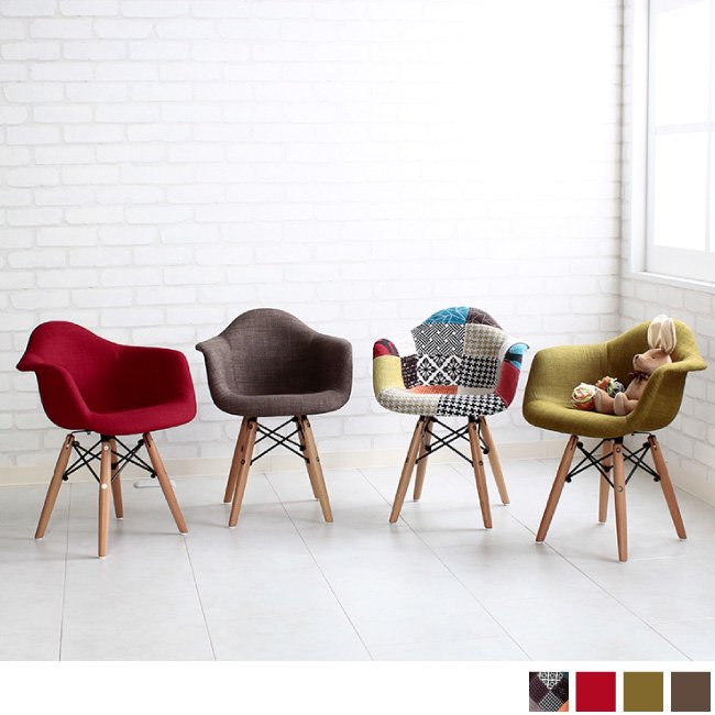 デザイナーズチェア キッズ家具Eames Shell Char-for KIDSイームズ シェルチェア(キッズ・ファブリック)の画像